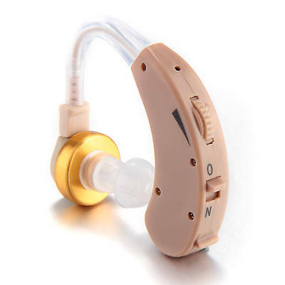 Behind the Ear Hearing Aid Aids Kit Adjustable Tunable Sound Amplifier