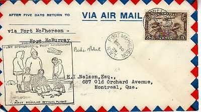 CANADA 1ers vols first flights airmail 166