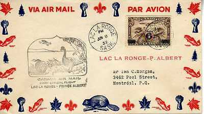 CANADA 1ers vols first flights airmail 171
