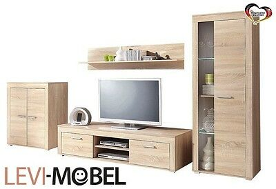 wohnwand 5 tlg wohnzimmer lowboard antik wei gewischt neu 380985 eur 349 00 picclick de. Black Bedroom Furniture Sets. Home Design Ideas