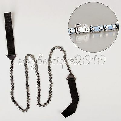 Outdoor Hand High Limb Rope Chain Saw Manual Limb Cutter Trimming Prunning New