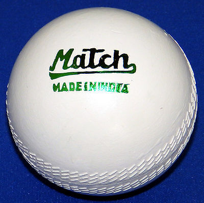6 x Match Compo 5 1/2oz White Hockey or Cricket Practice Balls Painted Fun