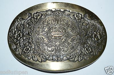 WOW Nice Vintage 1981 CAL COMP Western Award Brass Belt Buckle