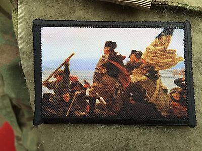 General George Washington Morale Patch Tactical ARMY Hook Military USA Badge