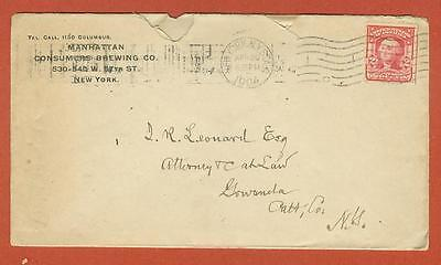 1904 Manhattan Consumers Brewing Co New York - Envelope