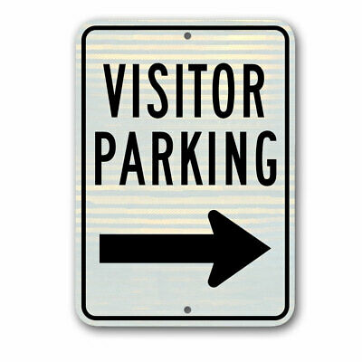"Visitor Parking Only Sign 8/""x12/"" .040″ Aluminum English//Spanish W4943"