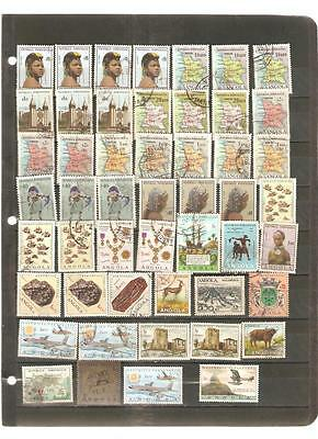 pk16359:Stamps - Lot of 50 Assorted Angola - Used