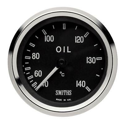 Smiths 52mm Cobra Mechanical Oil Temperature Gauge With Black Face/Chrome Bezel