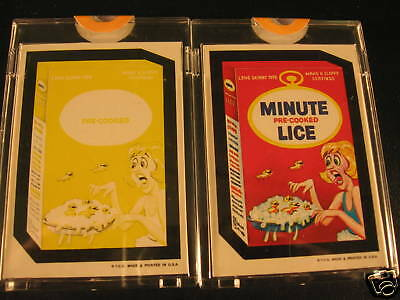 1973 Topps Wacky Packages (2) Proof Minute Lice