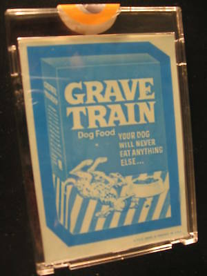 1973 Topps Wacky Packages Blue Line Proof Grave Train