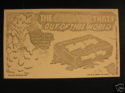 1969 Topps Wacky Packages Ads Proof Melty Way