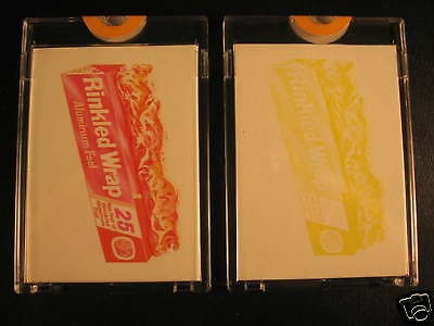 1973 Topps Wacky Packages (2) Proof Rinkled Wrap