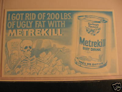 1969 Topps Wacky Packages Ads Proof Card Metrekill