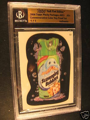 2006 Topps Wacky Packages ANS3 Proof #51 BGS