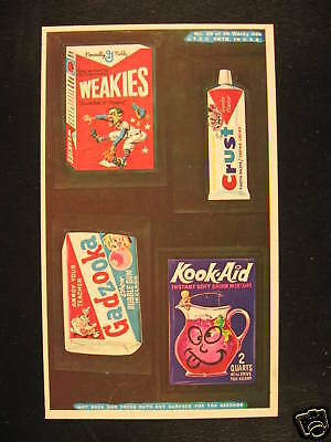 1969 Topps Wacky Packages Ads Proof Card #29 4 in 1