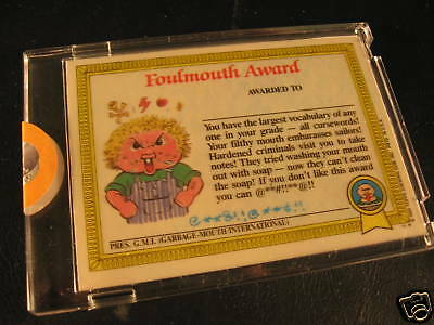 1985 Topps Garbage Pail Kids Series 1 Proof #25