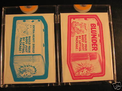1973 Topps Wacky Packages (2) Proof Blunder Bread