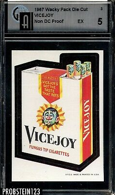 1967 Wacky Pack Die Cut PROOF #3 Vicejoy GAI 5