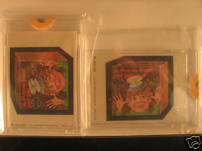 1980 Topps Wacky Packages (2) Proof Moron Beef Pot Pie