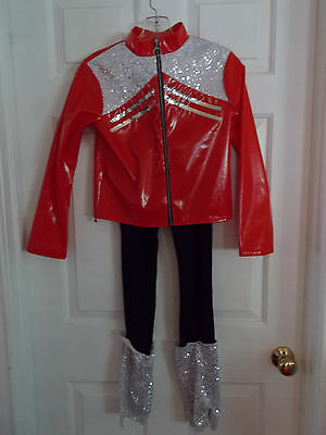 Red & Black Curtain Call Midnight Hour Dance Costume Size CLA
