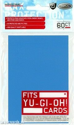 Max Protection Alpha Sleeves For YuGiOh! Cards ::  Sky Blue :: Pkt 60