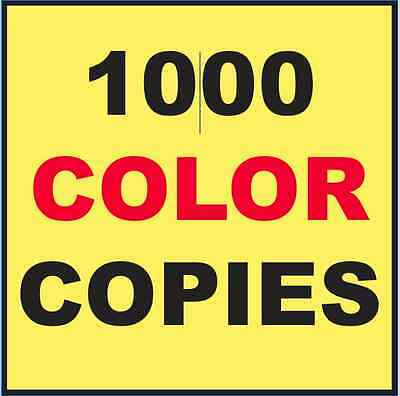 "1000 Custom Printed Flyers 8.5"" x 11"" Color Copies Printing"
