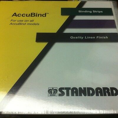 "Accubind Binding Strips Standard 40mm White Bookbinding Size E 1-9/16"" NEW"