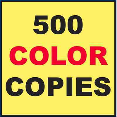 "500 Custom Printed Flyers 8.5"" x 11"" Color Copies Printing"