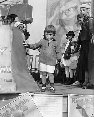 Child with replica of Liberty Bell Liberty Loan rally World War I WWI 8x10 Photo