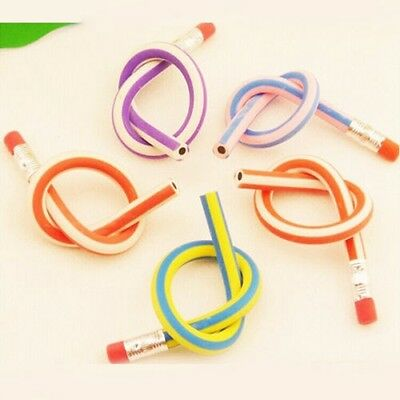 5pcs/lot Colorful Magic Bendy Flexible Soft Pencil With Eraser
