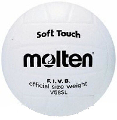 Molten V58Sl Volleyball Synthetic Leather Training/Practice Match Ball White