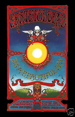Grateful Dead in  Hawaii Concert Poster  1969  Large Format 24x36