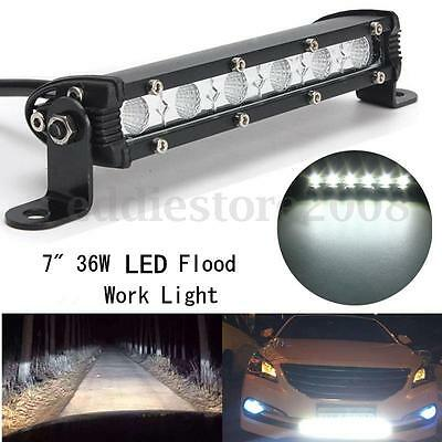 7 inch 36W SMD White Flood LED Work Lights Bar Fog Driving Offroad Boat SUV