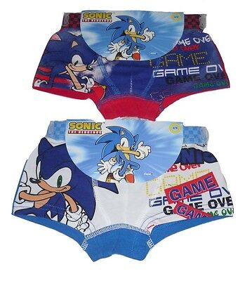 Boys Boxer Shorts Underwear Sonic The Hedgehog 2-8 Years Red Or White