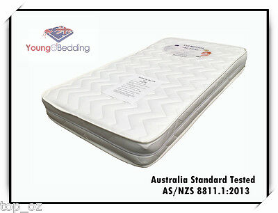 AU Standard Approved Breathable Inner Spring Cot Mattress w/removable Cover