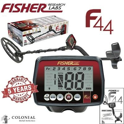 Fisher F44 Multi-Purpose Metal Detector  - Weatherproof - FREE FAST Shipping