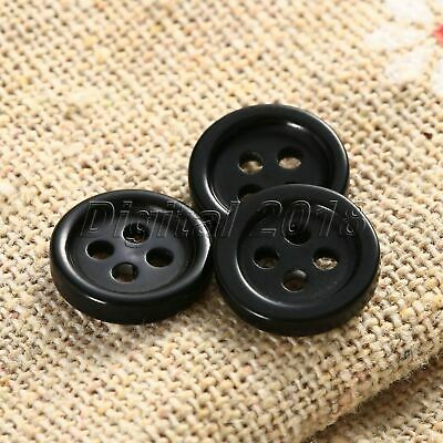 10mm Black Round Resin 4 Holes Clothes Sewing Buttons DIY Use100Pcs Wholesale