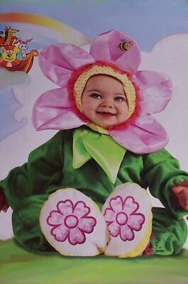 Baby Infant Girls Pansy Flower Petal Halloween Costume Pink 6 12 18 Months NEW
