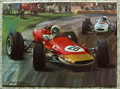 LOTUS Michael Turner COLOUR PRINT From The MOTOR Magazine 7 Dec 1968 Motorsport