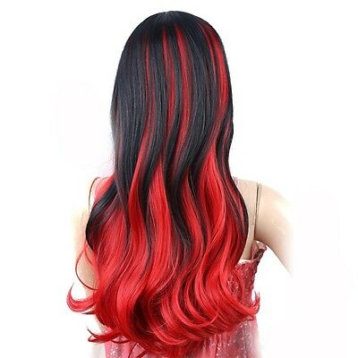 Ladies Long Blonde Full Wig Hair Red Black Brown Wig Wavy Fashion Wigs BY