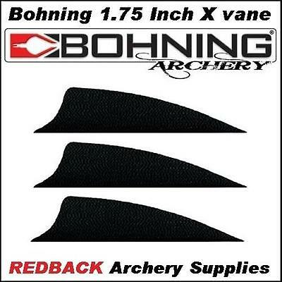 25 Bohning 1.75 inch X Vane Black  for arrows archery hunting