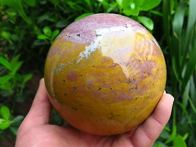 2315g Natural Rare Green plants Agate Geode CRYSTAL SPHERE BALL Healing