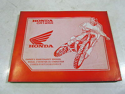 Revue Manuel Entretien Maintenance Manual German Honda 125 Cr 1991 67Kz4610
