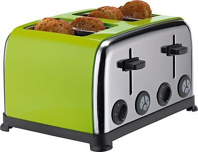 ColourMatch Stainless Steel 4 Slice Toaster 1900W Apple Green - From Argos ebay