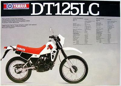 YAMAHA DT125LC/ XT125- Motorcycle Sales Sheet - 1982 -#LIT-3MC-0107564-82(FE)