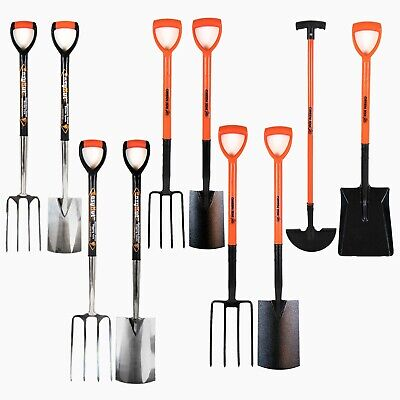 Garden Digging Spade Fork Shovel Border Edging Farm Carbon Stainless Steel Tools