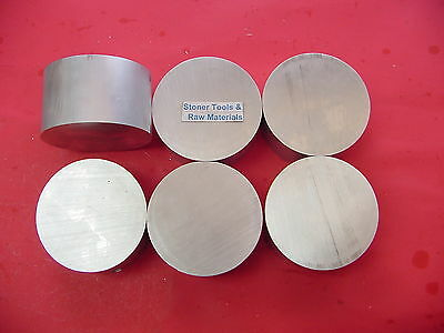 "6 Pieces 3-5/8"" ALUMINUM ROUND ROD 2"" long 6061 T6511 Solid New Lathe Bar Stock"