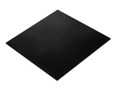 "Herco 1/16"" Thick ASTM D2000 60A Black Neoprene Rubber Sheet (6"" x 6"")"