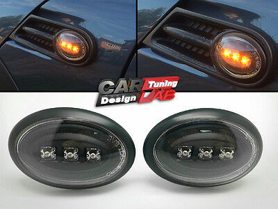 Smoke LED Side Marker Light Turn Signal For 07-13 Mini Cooper R55 R56 7 8 9 Mk2