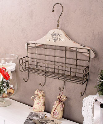 WARDROBE Shabby Chic Wall Hook Hook rail Vintage Hook Wall coat rack Antique